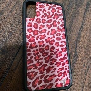 Pink Leopard Wildlower Iphone X/Xs Case